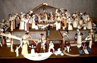 Un pesebre que evoca el nacimiento de Jesús