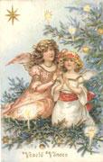 Weihnachtskarte aus der Wende des 19. und 20. Jh.