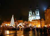 Xmas tree in Old Town Square in Prague