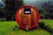 Beer barrels and industrial vats are often converted into cottages
