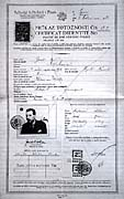 Identity papers of refugee in Czechoslovakia