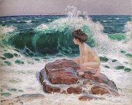 Франтишек Купка, «Волна» - женский акт на берегу моря, 1902-1903, Национальная галерея в Праге