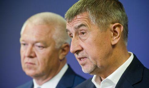 Andrej Babiš (à droite) et Jaroslav Faltýnek, photo: ČTK