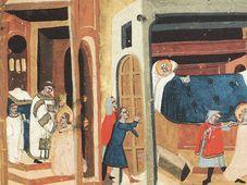 Dibujo del asesinato de Ludmila, fuente: public domain