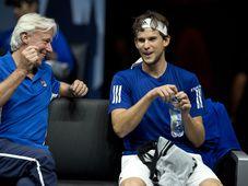 Björn Borg und Dominic Thiem (Foto: ČTK)