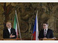 Ali Akbar Salehi et Lubomír Zaorálek, photo: ČTK