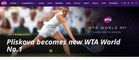 Oficiální stránky Ženské tenisové asociace (WTA) oznámily, že se Karolína Plíšková stává 17. července 2017 světovou tenisovou jedničkou