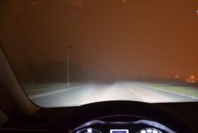 Ограниченная видимость в темноте и тумане, фото: ВУТ Брно