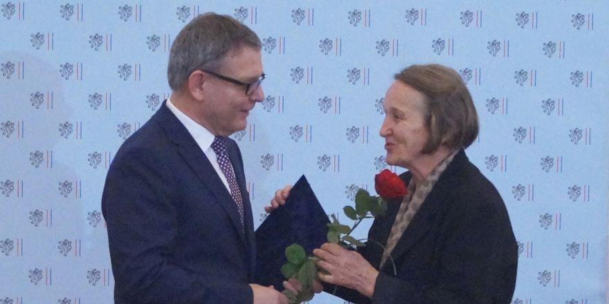 Doris Kumarová převzala v roce 2017 cenu Gratias agit, foto: archiv Českého rozhlasu - Radia Praha