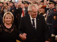 Miloš Zeman with his wife Ivana, photo: CTK