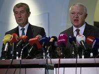Andrej Babiš, Jaroslav Faltýnek, photo: CTK