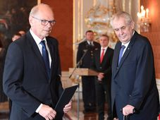 Ivan Pilný und Miloš Zeman (Foto: ČTK)
