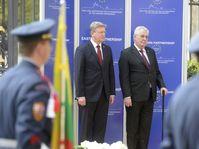 Štefan Füle et Miloš Zeman, photo: ČTK
