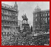 Wenceslas Square, October 28, 1918