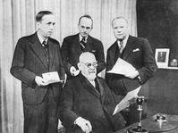 Karel Čapek and František Křižík, photo: archive of Czech Radio