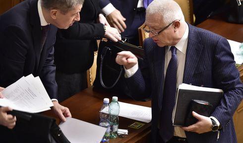 Andrej Babiš et Jaroslav Faltýnek, photo: ČTK