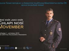 Плакат в поддержку акции Movember, Фото: Архив Полиции ЧР