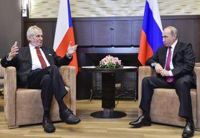 Miloš Zeman et Vladimir Poutine, photo: ČTK