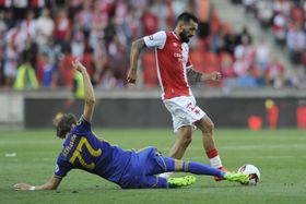 Slavia Prague - Bate Borisov, photo : ČTK
