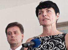 Ministr Pavel Blažek s Lenkou Bradáčovou