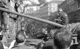 Warsaw Pact invasion in Prague, August 1968, photo: archive of Czech Radio