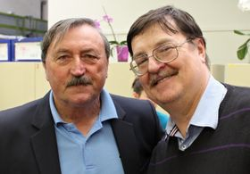 Antonín Panenka mit Lothar Martin (Foto: Ondřej Tomšů)