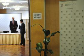 Volební místnost vUSA, foto: ČTK