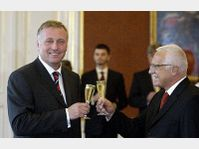 Mirek Topolanek et Vaclav Klaus, photo: CTK