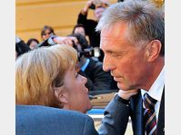 Angela Merkel et Mirek Topolánek, photo: CTK