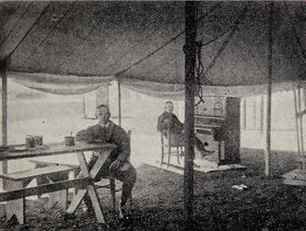 Czechoslovak Radio tent at Kbely air base, photo: archive of Czech Radio