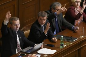 Andrej Babiš (center), photo: CTK