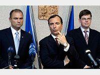 Ivan Langer, Franco Fratinni, Jiri Pospisil, photo: CTK