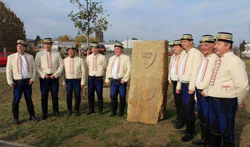 Kámen připomínající bitvu na Luckém poli, foto: archiv Petra Slintáka