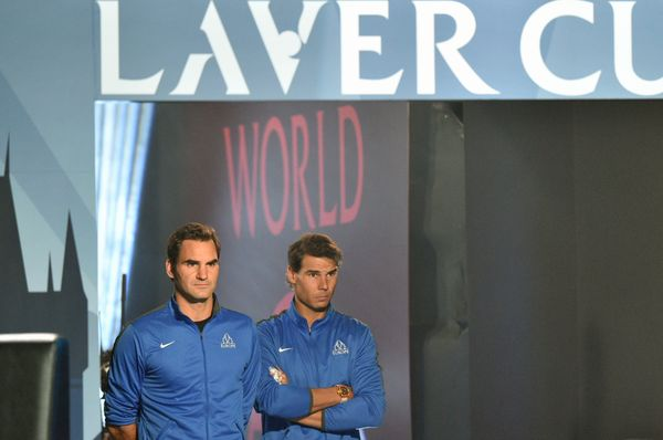 Roger Federer et Rafael Nadal, photo: ČTK