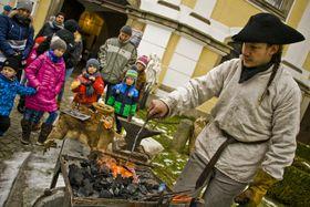 Jan - the Christmas Blacksmith Reenactor, photo: Vít Pohanka