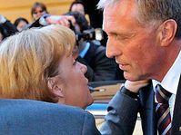 Angela Merkel et Mirek Topolánek, photo: CTK