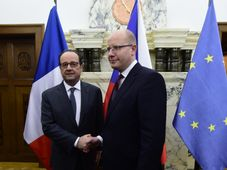 Francois Hollande, Bohuslav Sobotka, photo: CTK