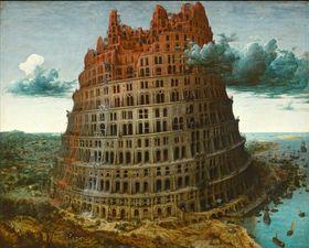 La torre de Babel, pintura de Pieter Bruegel, Museum Boijmans Van Beuningen, Rotterdam