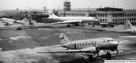 Letiště Ruzyně vroce 1957, foto: archiv Letiště Praha, a. s.