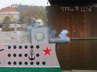 Symbolischer Schuss aus Aurora (Foto: Martina Schneibergová)