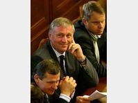 Jiri Cunek, Mirek Topolanek, Martin Bursik, photo: CTK