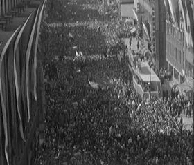 Oslavy 1. máje vPraze roku 1968, foto: ČT