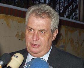 Miloš Zeman, foto: Zdeněk Vališ