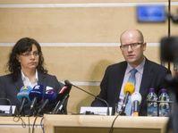 Michaela Marksová-Tominová et Bohuslav Sobotka, photo: ČTK