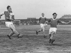 Josef 'Pepi' Bican (a la izquierda), foto: archivo de Slavia de Praga
