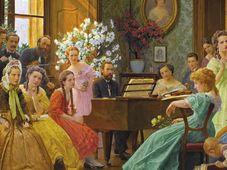 Bedřich Smetana a přátelé, obraz z roku 1865 Františka Dvořáka  (1862-1927)