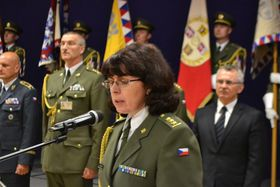 Lenka Šmerdová, photo: Jana Deckerová, photo: Site officiel de l'Armée tchèque