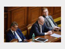 Андрей Бабиш, Богуслав Соботка и Павел Белобрадек, Фото: ЧТК
