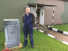 David Brocklehurst at the Operations Block in Hawkinge, photo: Ian Willoughby