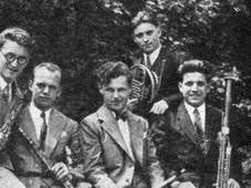 De izquierda: Václav Smetáček, Vladimír Říha, Rudolf Hertl, Otakar Procházka, Karel Bidlo, foto: public domain